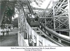 The Roller Coaster Giant Dipper at Lake Contrary St. Joseph Mo - http://ilovestjosephmo.com/the-roller-coaster-giant-dipper-at-lake-contrary-st-joseph-mo
