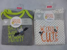 Infant Halloween One Piece Carters Batty About Mommy Wickedly Cute Like Auntie…