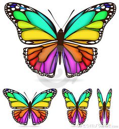 Butterfly Rainbow Stock Photos, Images, & Pictures – Images) - Page 3 Butterfly Mosaic, Butterfly Stencil, Butterfly Drawing, Dragonfly Art, Butterfly Pictures, Butterfly Template, Butterfly Painting, Butterfly Watercolor, Butterfly Crafts