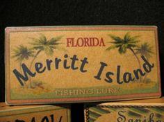 Three PERSONALIZED fisherman Christmas gifts - Lake cabin fishing lure box decorations for ANY lake. Florida City, Visit Florida, Florida Travel, Merritt Island Florida, Brevard County Florida, Lure Box, Cocoa Beach, Lake Cabins, Fishing Life