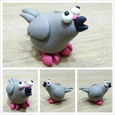 Pigeon https://www.facebook.com/DeeRaaArts polymer clay sculpey fimo super sculpey