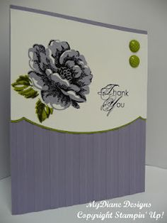 MyDiane Designs, handmade cards, cards, Stampin Up, Stippled Blossoms, Blooming with Kindness