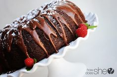 Triple Chocolate Bundt Cake --- not for anyone who's trying to reduce the amount of sugar they consume!