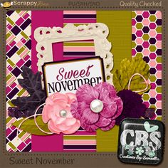 "FREE creations by: samantha : Scrappy Bee October Blog Train: ""Sweet November"""