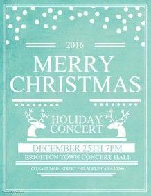 Christmas Celebration Event Poster Template  Christmas Poster