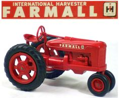 1-16 scale vintage farmall toy tractor (3up)