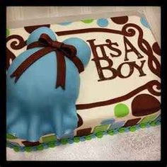 Love this baby shower cake for a boy<3