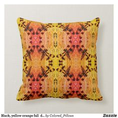 Black, yellow orange fall dragonfly solid back Orange Pillows, Custom Pillows, Your Design, Throw Pillows, Make It Yourself, Knitting, Yellow, Create, Fall