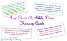 Free Printable Scripture Art Memory Cards!