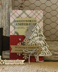 Peaceful Pines Money Holder by catrules - Cards and Paper Crafts at Splitcoaststampers