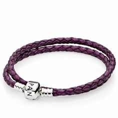 Pandora Leather Clasp Bracelet $50 #Pandora #Clasp #Bracelet