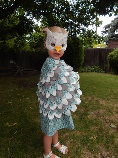 I love this little owl costume. Sewing does not come easily for me and I got some much needed help from my sewing champ of a friend, Becky. Owl Halloween Costumes, Bird Costume, Little Owl, Special Day, Sewing, Fall, Autumn, Dressmaking, Couture