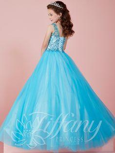 Tiffany Princess 13465 Illusion Neckline Pageant Dress