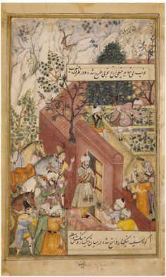 Babur supervising the laying out of the Garden of Fidelity | Bishndas | V&A Search the Collections