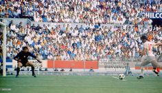 World Cup Finals, Guadalajara, Mexico, 2nd June, 1970, England 1 v Romania 0, England's Geoff Hurst scores the only goal of the game past Romanian goalkeeper Stere Adamche in the two teams opening group 3 match