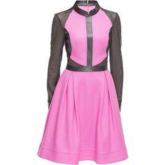 LATTORI Bubble Gum Dream Dress ($199) ❤ liked on Polyvore featuring dresses, lattori, going out dresses, pink dress, night out dresses, lined dress and pink party dress