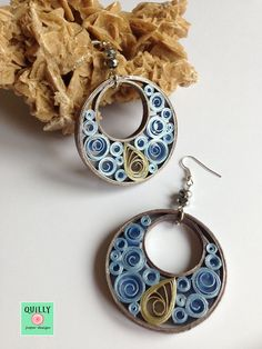 "Paper earrings ""Arabesco_08"" by QuillyPaperDesign www.quillypaperdesign.com www.facebook.com/QuillyPaperDesign"
