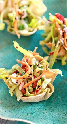 Asian Salad Wonton Cups