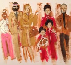 Donald Robertson's painting of the Royal Tenenbaums - two of my most favorite things in the world