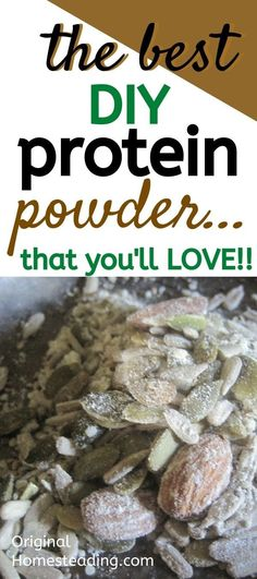 Do you want a Fresh Homemade Protein Powder - then we have the recipe for you! This is the best DIY Protein Powder For Kids, Homemade Protein Powder, Keto Protein Powder, Protein Powder Recipes, High Protein Recipes, Healthy Protein Snacks, Protein Cake, Protein Cookies, Protein Foods