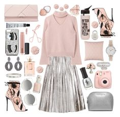 """Feeling the silver"" by purplepompom ❤ liked on Polyvore featuring Gucci, Giuseppe Zanotti, Cartier, Olivia Burton, Marc Jacobs, Oscar de la Renta, Chiara Ferragni, Michael Kors, Too Faced Cosmetics and MAC Cosmetics"