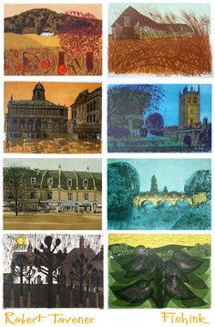 Robert Tavener , Illustrator and Artist Age 20's, Printmaking, Illustration Art, Drawings, Painting, Illustrator, Cities, Buildings, Artists