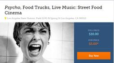 Sponsored: Psycho, Food Trucks, Live Music: Street Food Cinema on Saturday, Oct. 12. Tickets on sale now.