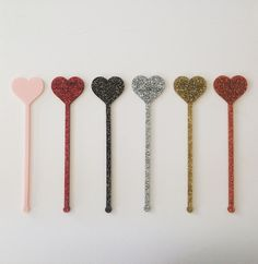 Heart stirrer,love,swizzle Sticks,Drink Stirrer,Cocktail Sticks,Weddings, Birthday,Party Decor,Bridal Shower,Engagement Party,Stir Stick,6Pk by JennandJulesDesigns on Etsy
