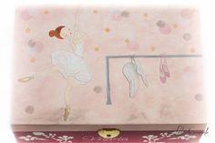 #Joyero #Comunión #bailarina de #ballet, para Marta, pintado a mano. www.lolagranado.com