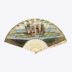 Pleated Fan, ca. 1830