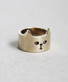 Lazy Oaf | Lazy Oaf | Cat Ring Gold £16
