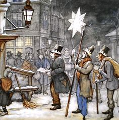 Viering Driekoningen door Anton Pieck, Dutch painter and graphic artist. Fairy Tale Forest, Fairy Tales, Anton Pieck, Dutch Painters, 3d Prints, Dutch Artists, Christmas Carol, Christmas Time, Illustrators