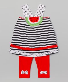 Love this Black Watermelon Tunic & Leggings - Infant, Toddler & Girls by Nannette Girl on #zulily! #zulilyfinds