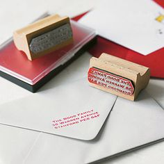Personalised Rubber Address Stamp