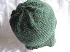 Items similar to Hand Knitted Forest Heather Earflap Hat on Etsy Free Knitting, Yarns, Knitted Hats, Trending Outfits, Unique Jewelry, Handmade Gifts, Vintage, Etsy, Fashion