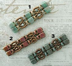 Linda's Crafty Inspirations: Playing with my beads...Brocade Bracelet samples