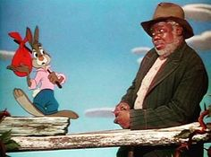 James Baskett, who played Uncle Remus in Disney's film Song of the South, was not able to attend the film's premiere in Atlanta, Georgia; Disney Cartoons, Disney Movies, Disney Pixar, Movie Q, Disney Duos, Uncle Remus, Famous Duos, Song Of The South, Film Song