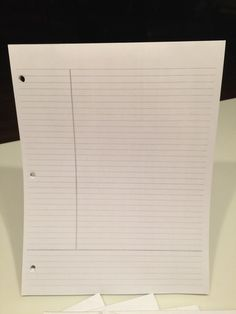 Cornell System  Note Talking Pad  50 sheets by StayAheadOrganize