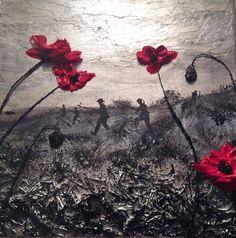 Poppy Art Poppy Painting War Art Remembrance Artist Jacqueline Hurley