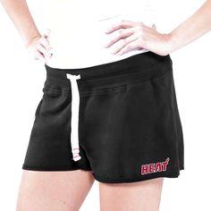 Miami Heat Women's Base Hit Lounge Short - Black - $19.99