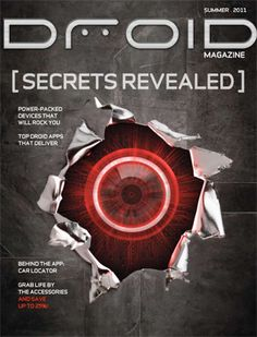 Verizon's Droid magazine cover art from summer 2011    #Verizon #Android #magazine