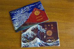 【楽天市場】AKAFUJI AOFUJI アカフジ アオフジ 富士山のパスポートケース パスポートホルダー カバー 赤富士 青富士 葛飾北斎 Eri Tsunoda:PLAY DESIGN PLAY