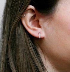 Dangly Earrings, Hoop Earrings, Diamond Earrings, Beach Jewelry, Sterling Silver Earrings, Piercings, Etsy, Dramatic Look, Closure