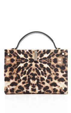 Valentino Leopard Hair Calf minaudière