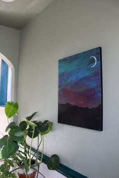Hey, I found this really awesome Etsy listing at https://www.etsy.com/listing/260069668/acrylic-mountain-galaxy-crescent-moon