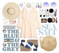 """summer beach"" by jk802 ❤ liked on Polyvore featuring Chloé, Bobbi Brown Cosmetics, ABS by Allen Schwartz, Las Bayadas, Skinnydip, Christian Dior and Rebecca Minkoff"