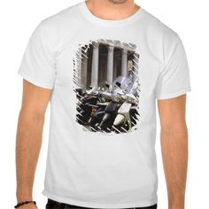 Motor scooters parked outside the Pantheon in Tee T Shirt, Hoodie Sweatshirt
