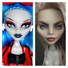TOP Awesome Realistic Dolls Made By Ukrainian Artist Monster High Repaint, Monster High Dolls, Photoshop, Monster High Custom, Realistic Dolls, Doll Painting, Living Dolls, Creepy Dolls, Doll Repaint