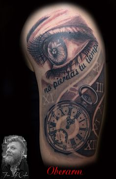 #tattoorosenheim #taetowiererrosenheim #christattoo #tattoochris #forlifecolor #rosenheim #bayern #raubling #tattoostudiorosenheim #ink #instatattoo #blackandgrey #zeit #uhr #auge