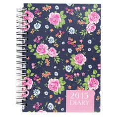 Floral A6 Diary 2015 - Week To View